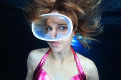 Female diver Stock Photos