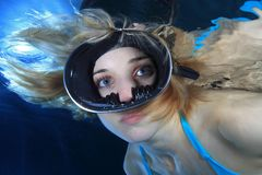 Female diver Royalty Free Stock Image