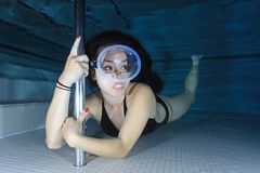 Female diver Royalty Free Stock Photo
