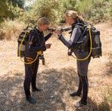 Female Divers Stock Photo