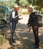 Female Divers stock photos