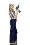 Female DIY enthusiast Stock Images