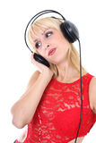 Female dj Royalty Free Stock Photos