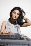 Female Dj Royalty Free Stock Images