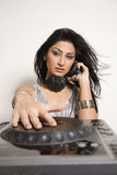 Female Dj Royalty Free Stock Image