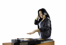Female DJ Stock Photo