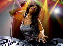 Female DJ Royalty Free Stock Photography