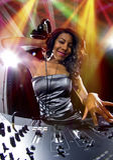 Female DJ Stock Photo