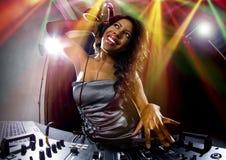 Female DJ Royalty Free Stock Photography