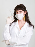 Female doctor. Bright picture of an attractive female doctor Stock Images