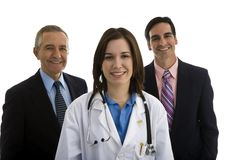 Female Doctor with Administrators Stock Photos
