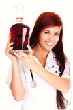 Female doctor with alcohol Stock Image