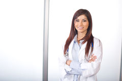 Female doctor arms crossed Royalty Free Stock Photo