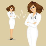 Female doctor with arms folded Royalty Free Stock Image