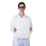 Female doctor assistant scientist in white coat over  isolated background Stock Photography