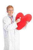 Female doctor of cardiology 2 Stock Image