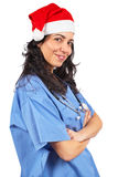 Female doctor christmas Stock Photos