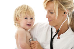 Female doctor with cild Royalty Free Stock Images