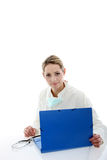 Female doctor consulting patient files Stock Images