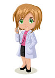 Female Doctor. Cute cartoon illustration of a doctor Stock Photo