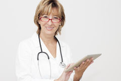 Female doctor with Digital Tablet Royalty Free Stock Photo