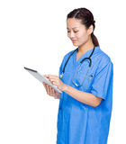 Female doctor with digital tablet Stock Photo