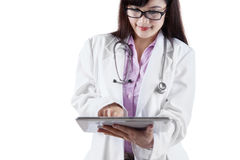 Female doctor with digital tablet Royalty Free Stock Images