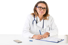 Female Doctor on the Doctors Office Stock Image