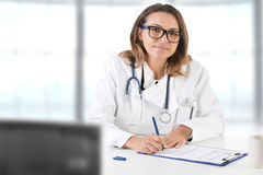 Female Doctor on the Doctors Office Stock Photos