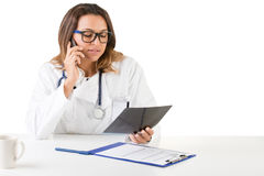 Female Doctor on the Doctors Office Royalty Free Stock Photography