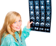 Female doctor examining x-ray picture Stock Photo