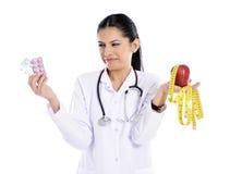 Female doctor explaining something Royalty Free Stock Images