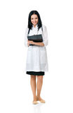 Female doctor with file folder and stethoscope Royalty Free Stock Photography