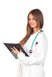 Female doctor with a folder Stock Photo