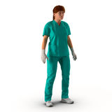 Female doctor full length portrait on white 3D Illustration Royalty Free Stock Photo