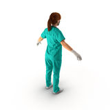 Female doctor full length portrait on white 3D Illustration Royalty Free Stock Images