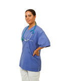 Female doctor with hands on hips Stock Image