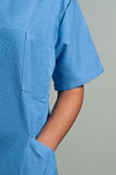Blue Doctor Uniform Royalty Free Stock Images