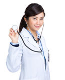 Female doctor hold stethoscope Stock Photography