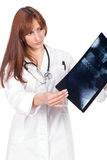 Female doctor holding a radiography Royalty Free Stock Photo