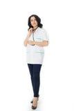 Female doctor holding stethoscope Stock Image