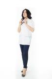 Female doctor holding stethoscope Stock Photos