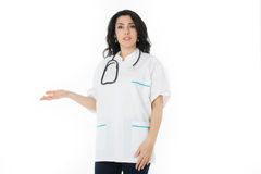 Female doctor holding stethoscope Royalty Free Stock Photography