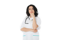 Female doctor holding stethoscope Stock Photography