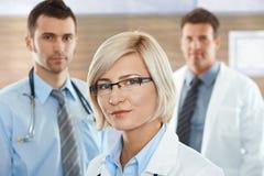 Female doctor on hospital corridor Royalty Free Stock Image