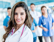 Female doctor at the hospital Royalty Free Stock Images