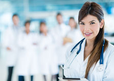 Female doctor at the hospital Stock Photography