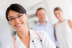 Female doctor at the hospital Royalty Free Stock Image