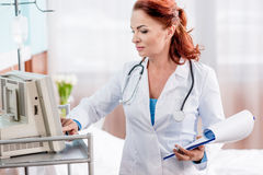 Female doctor in hospital Stock Images