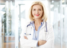 Female doctor at hospital Royalty Free Stock Image